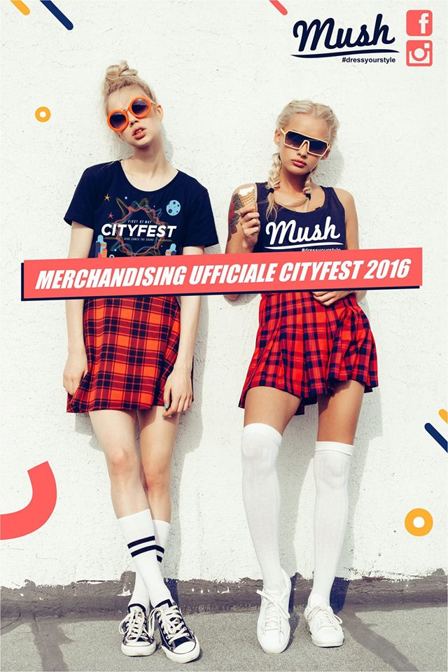 merchandising ufficiale cityfest 2016 Mush