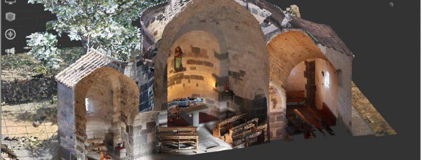 stato dei luoghi con laser scanner 3D, Sardegna