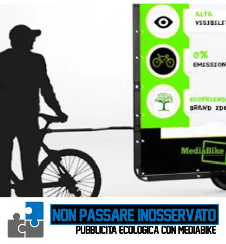 Campagna di Promozione con MediaBike Bicicletta Pubblicitaria Cagliari Sardegna